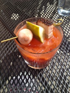 Bloody mary w/ pork belly