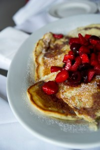 brunch pancakes at Lineage in Brookline